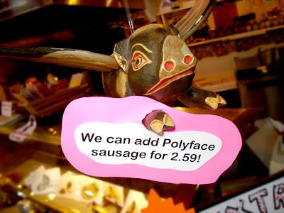 flying pig sells sausage