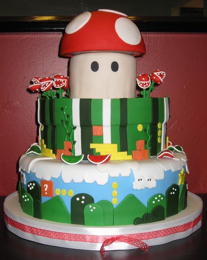 Katie 39 S Cakes Mario Wedding Cake