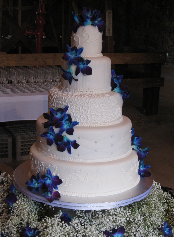Wedding Cake Blue Orchids