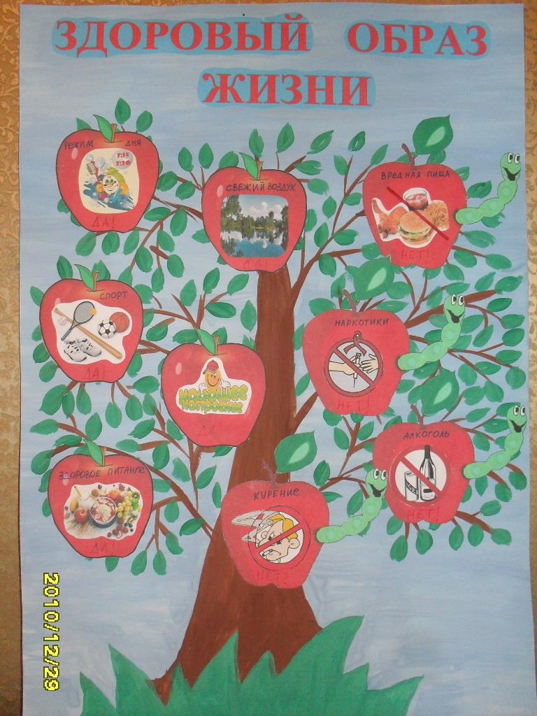 рисунки про здоровый образ жизни для школьников