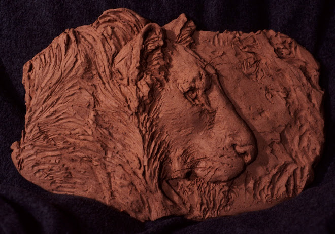 lion relief (terra cotta)