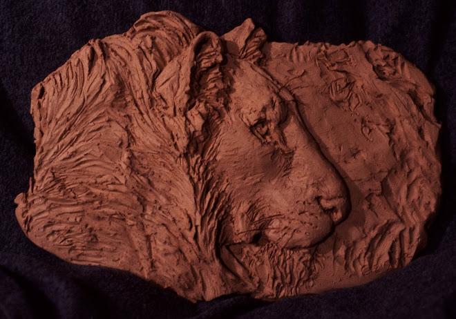 lion relief (terra cotta)
