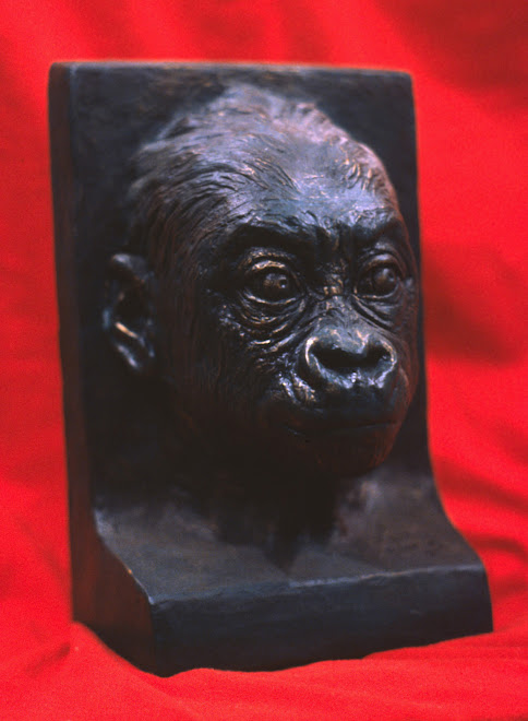 baby lowland gorilla (bookend)