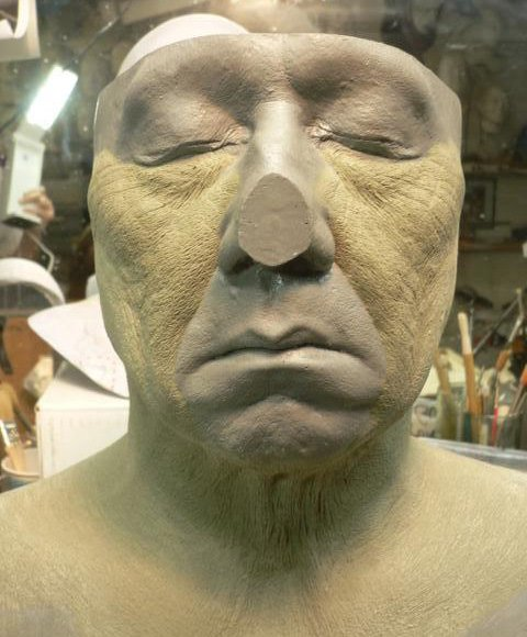 jackie chan old age make-up 'forbidden kingdom' (sides of face/neck section)