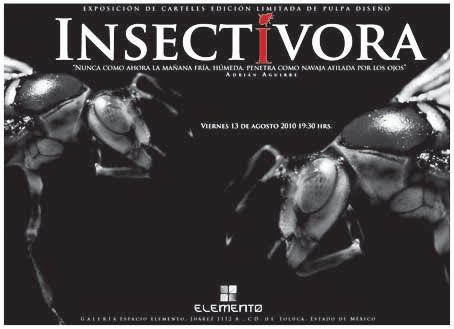 Insectívora Flayer de exposición