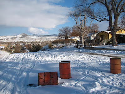 snow sledding hill in Thermopolis, Wyoming