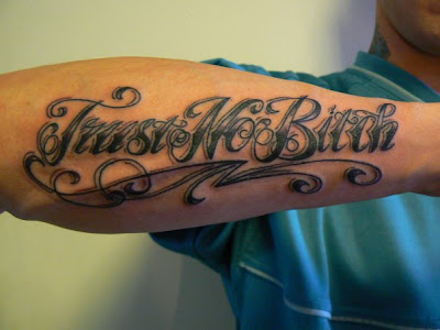 3D Letter Tattoo Design