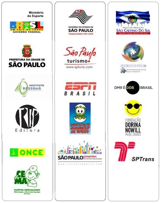 Empresas que apoiam os III Jogos Mundiais de Cegos