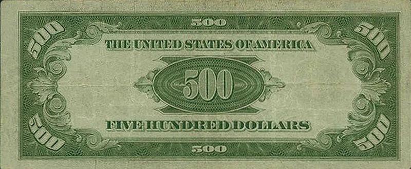 500 dollar bill. 500+dollar+ill+back