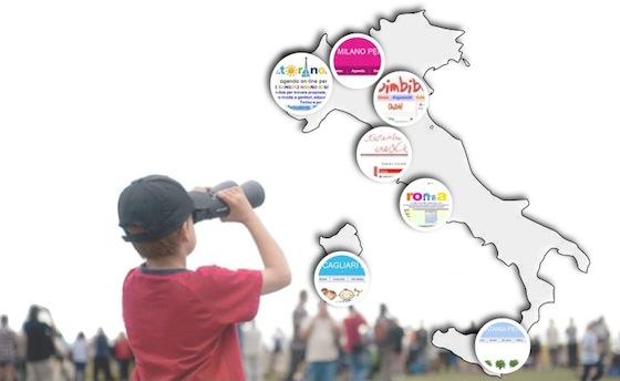 siti per bambini: elenco per città