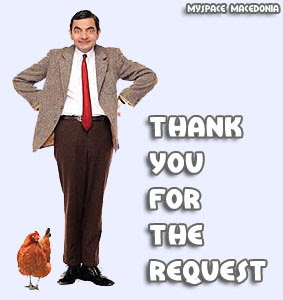 Thank You For The Request - Mister Bean (blue, white, chicken, hen)