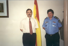 JUNTO AL SEÑOR JEFE DE LA POLICIA NACIONAL DE MADRID