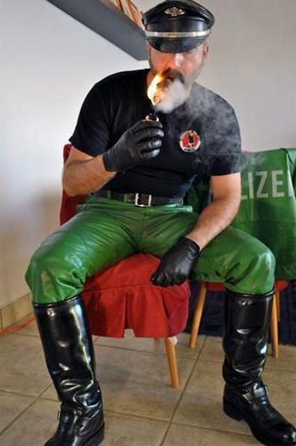 cigar cop gay leather