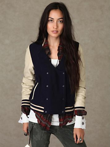 Angel Cola Black & White Hoodie Varsity Wool & Synthetic Leather Letterman Jacket Price