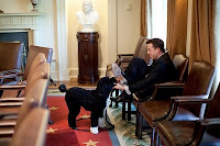 Bo with White House Staff Member