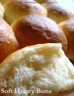 My Baking Cottage: Soft Honey Buns