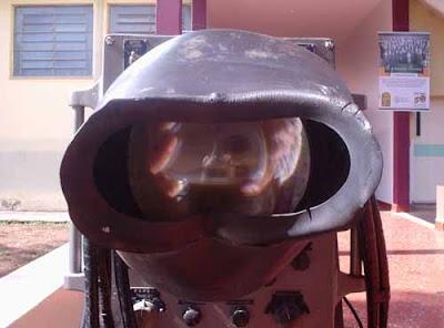 Detalhe do visor do radar
