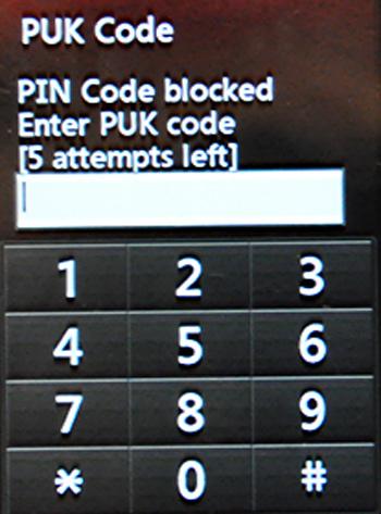 PUK Code problem - Sim Card