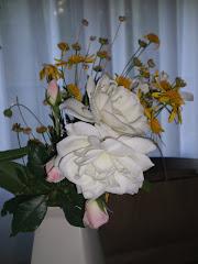una  rosa  y  varias  margaritas