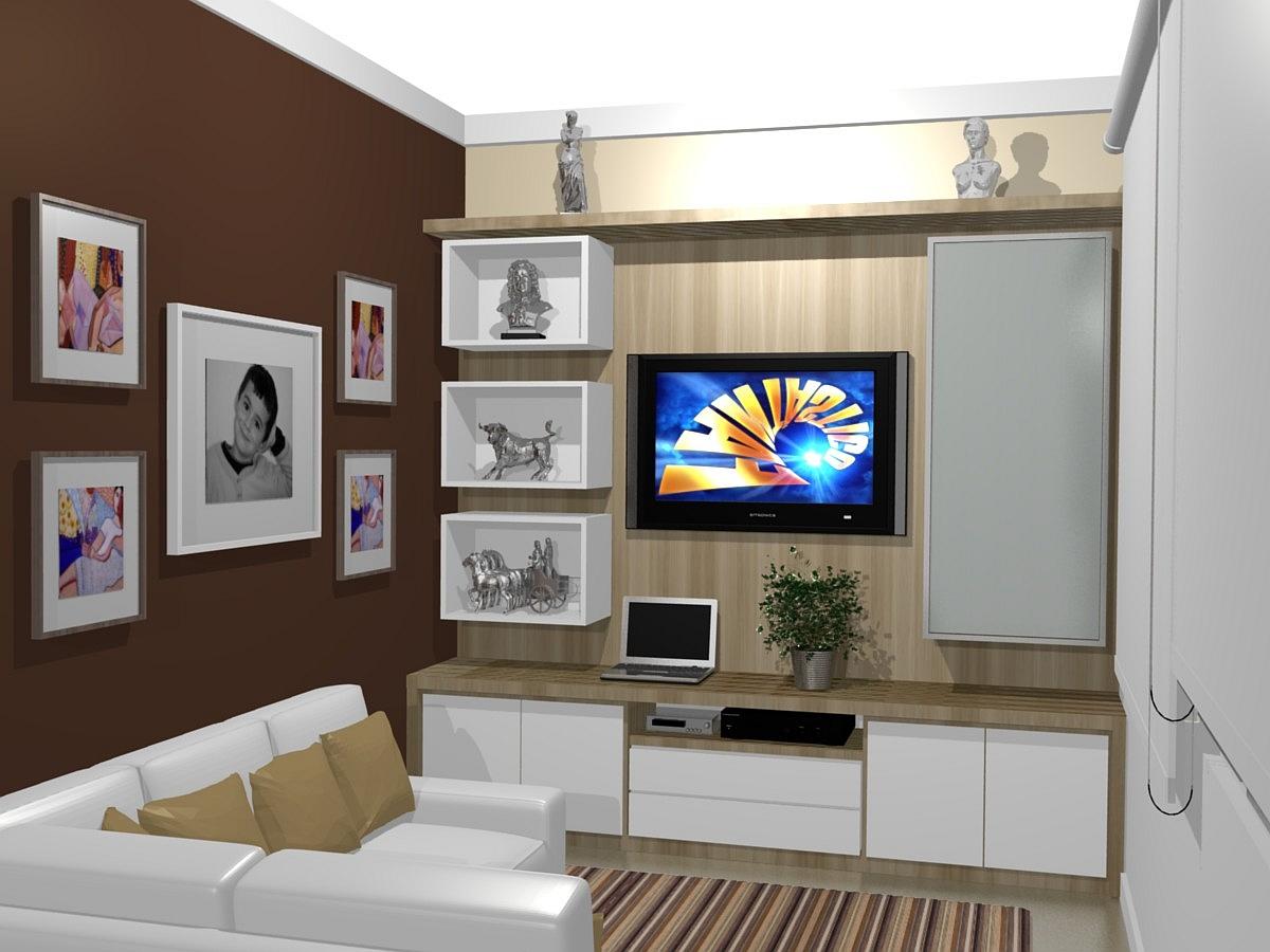 Home Para Tv Moderno Errkbrpccz Rack Tv Mdf Branco Porta De Correr  -> Medidas De Una Sala De Tv
