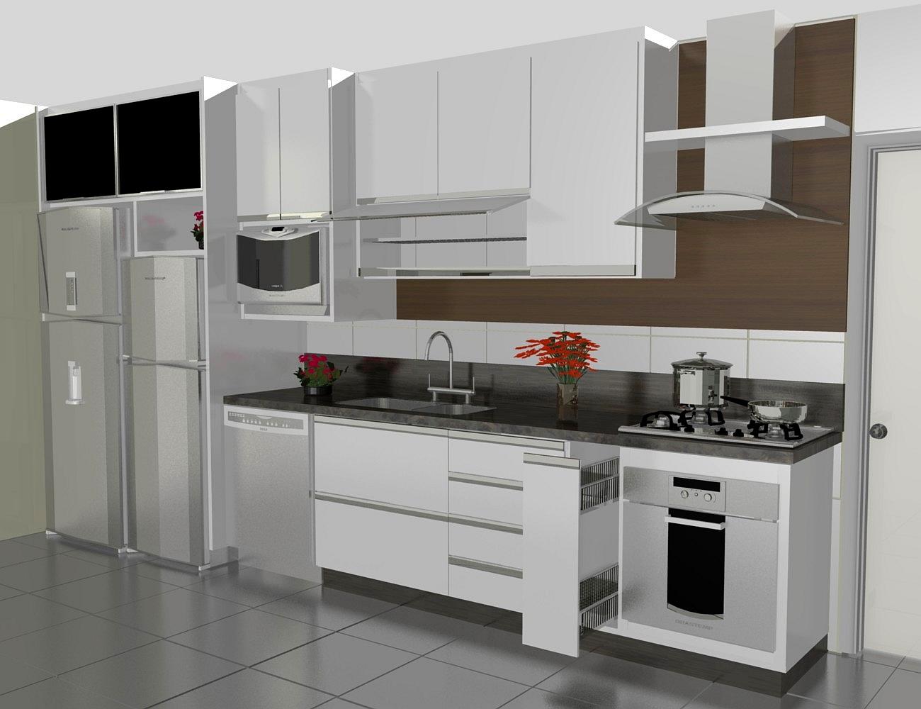 cozinha planejadas pequenas decorada americana modulada luxo moderna #5D4839 1300 1000