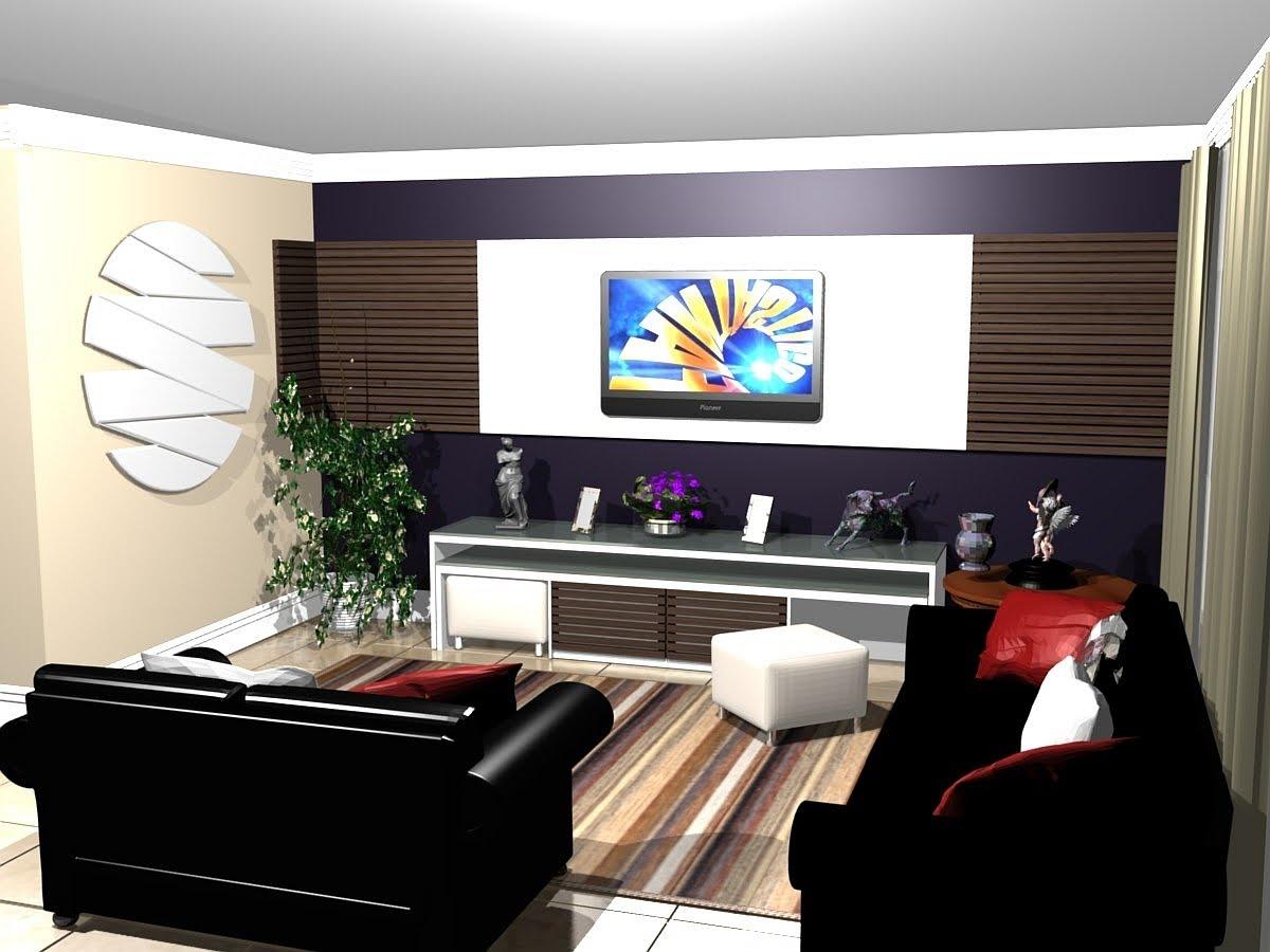 Painel De Televiso Moderno Ideias De Painel Para Tv No Quarto  -> Estantes Para Sala De Tv Lcd