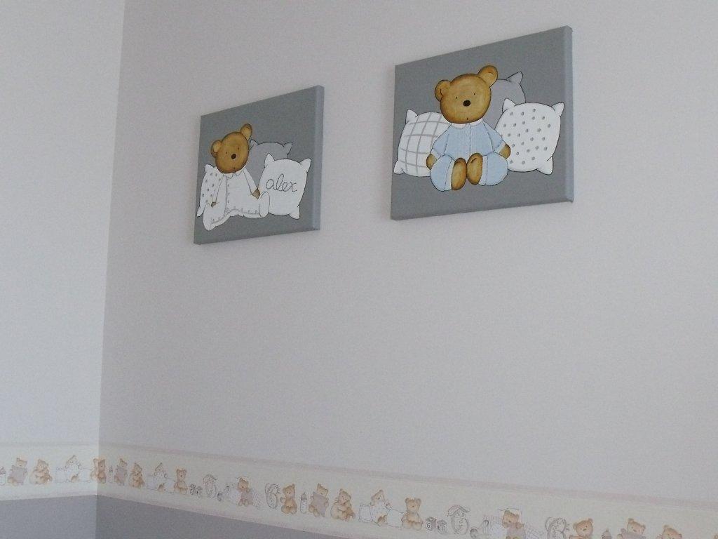 Caracolas deco un ambiente en gris y blanco la - Cuadros infantiles para habitacion de nina ...