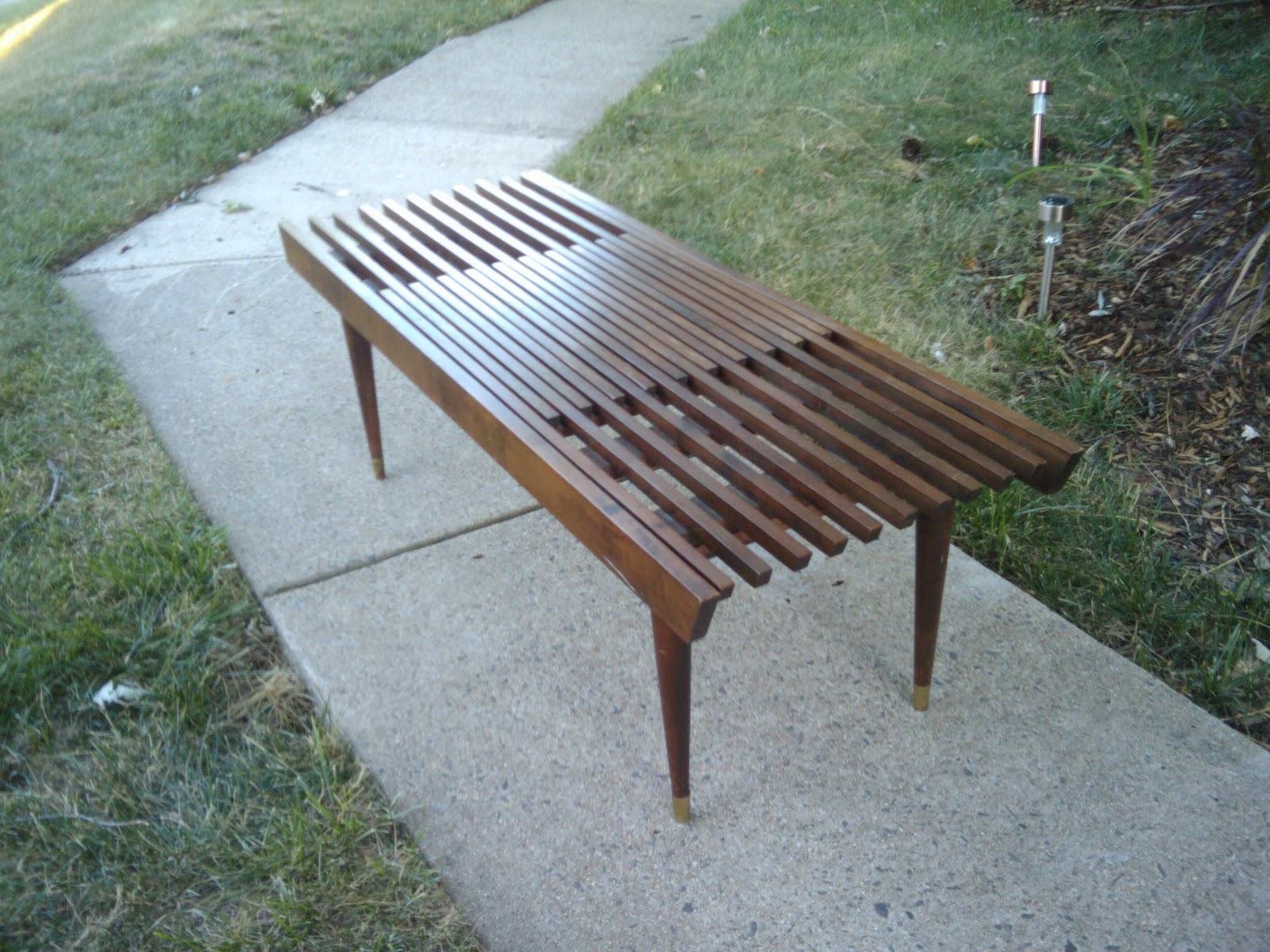 Vesta Vintage SOLD Expanding Mid Century Slat Bench Coffee Table