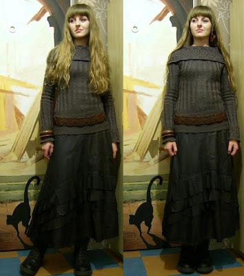 bastetlady spódnica sweter