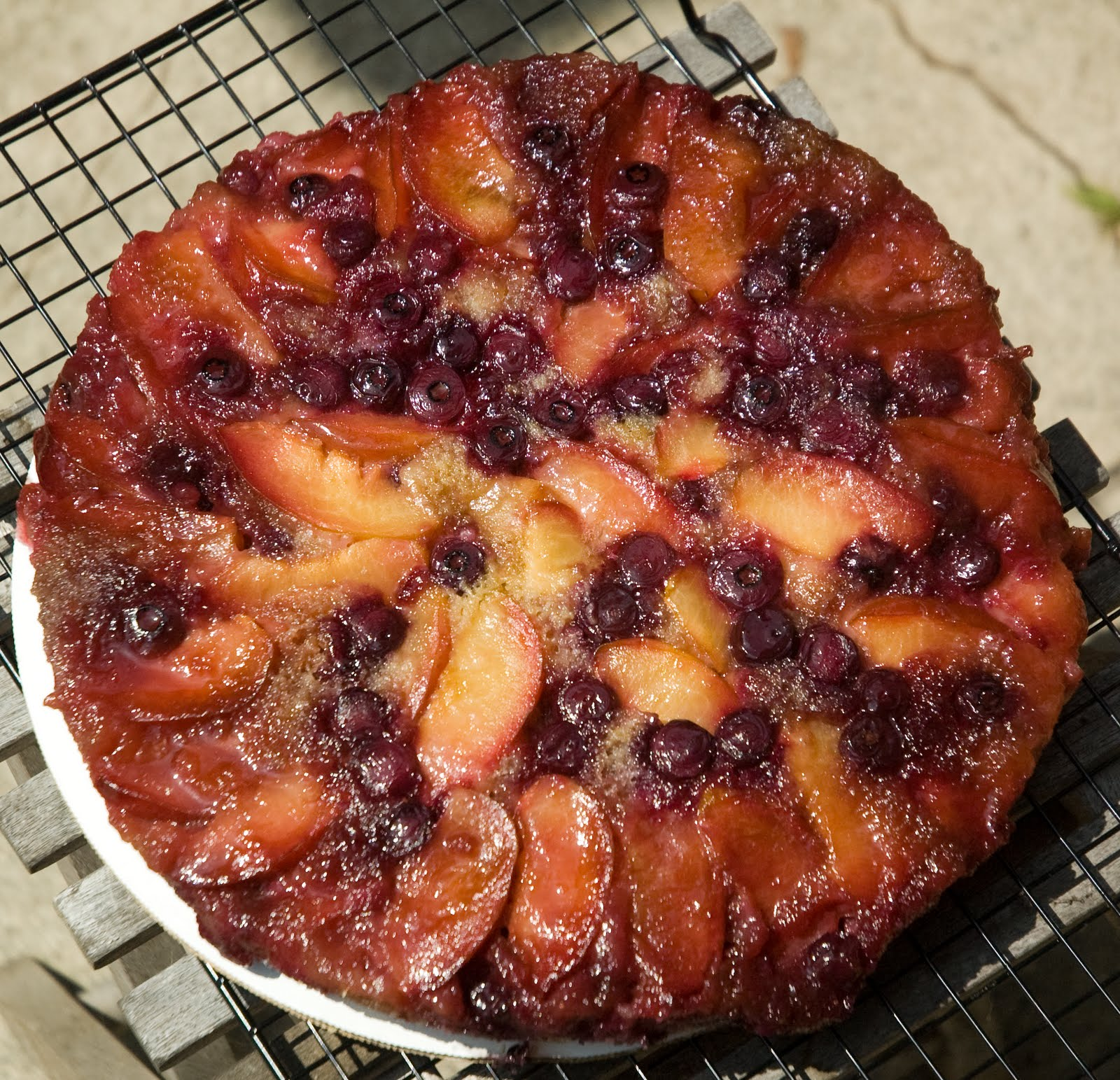Butter + Cream: Plum Blueberry Upside Down Cake