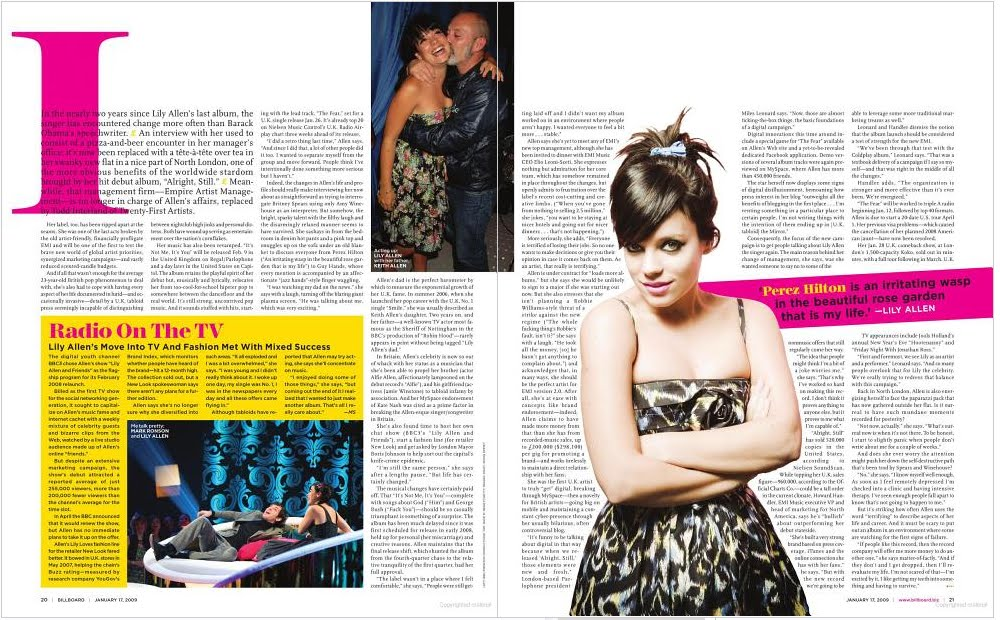 Magazine feature article celebrity