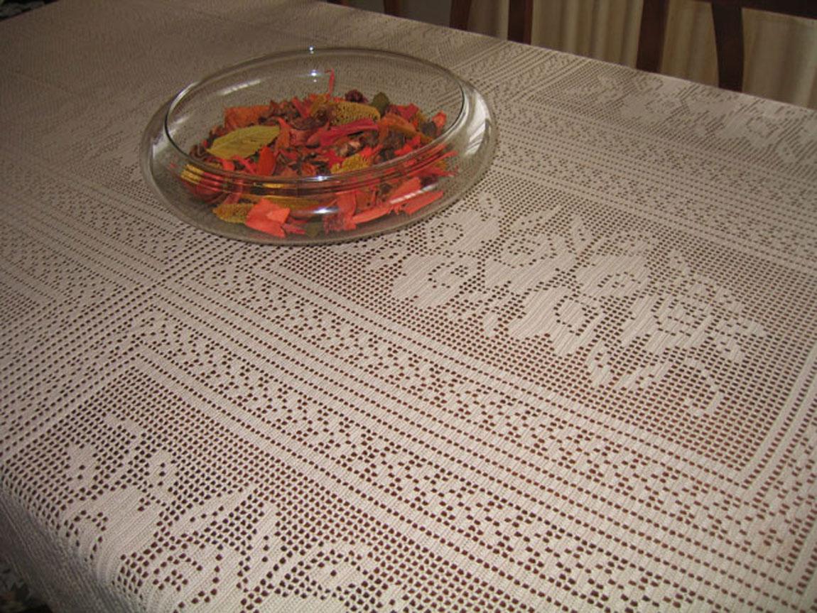 Mil di tutto e di pi schema tovaglia all 39 uncinetto - Stoffe per tovaglie da tavola ...