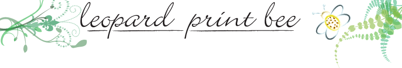Leopard Print Bee