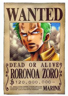 bounty roronoa zoro