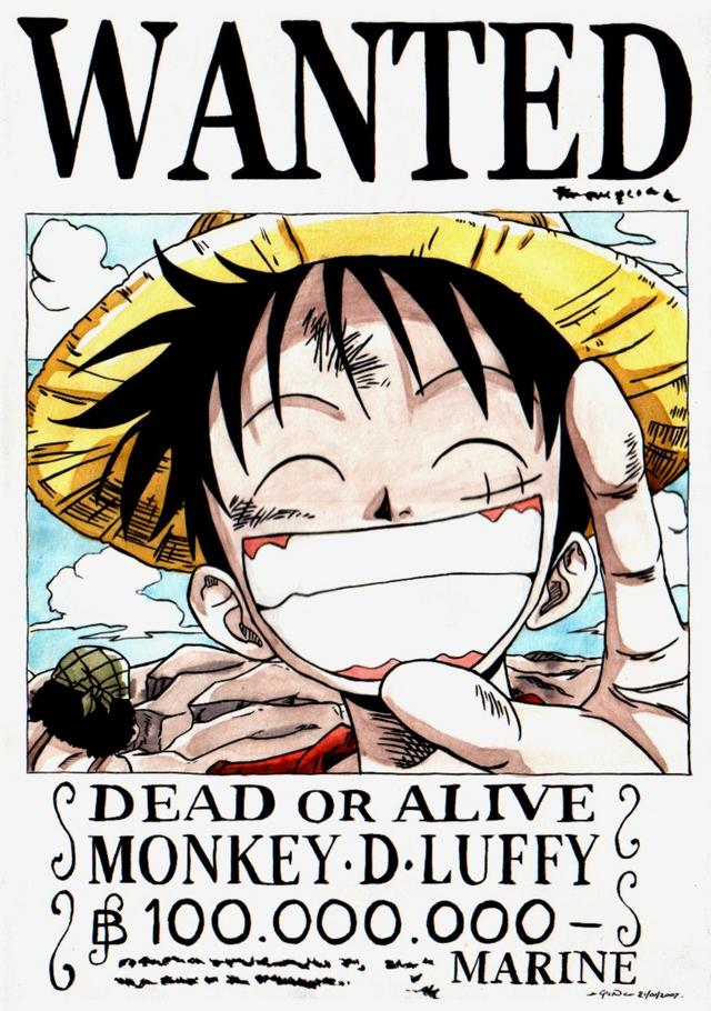 Bounty monkey d lufyy one piece anime fairy blog - One piece wanted luffy ...