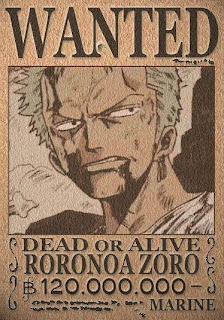 bounty roronoa zoro one piece