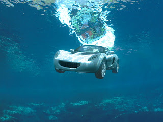 car squba underwater sea wallpaper