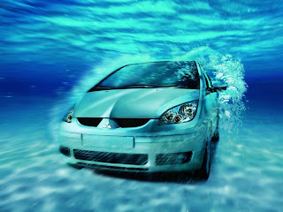 car underwater sea wallpaper