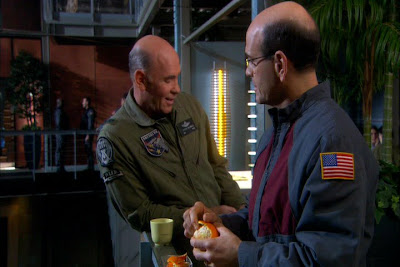 What a coincidence!  I, too, was a bald character in another scifi tv show...
