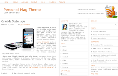 personal magzine new blogger template