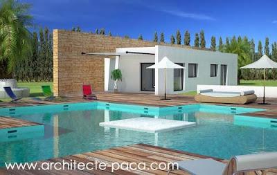 Petite Maison Contemporaine Toit Plat architecte et plan de maison : plans de maisons bbc bois, calcul