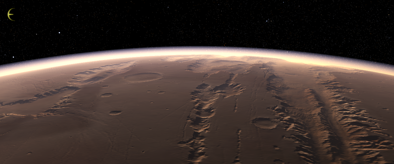 mars surface gravity