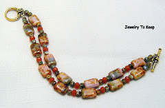 Czech Glass Brown Granite Bracelet