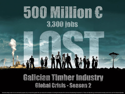 Galician Timber Industry LOST 500 Million Euro and 3300 jobs during 2009 / Effects of the Global Crisis on Galician Timber / La industria forestal gallega pierde 500 millones de euros de facturacion y 3300 empleos durante 2009 / Efectos de la crisis en la Industria Forestal de Galicia