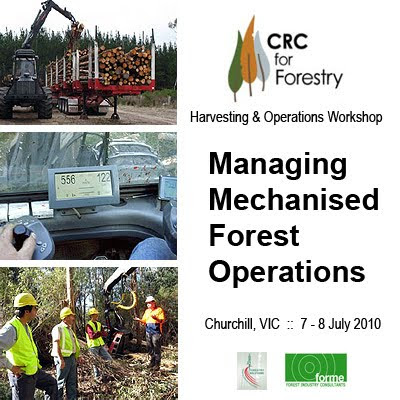 CRC for Forestry - Management of Mechanised Forestry Operations: Churchill Workshop, Victoria, July 2010 / Mark Brown (MelbUni - Creswick), Martin Strandgard (MelbUni - Parkville), Brad Shuttleworth (Forestry Solutions - South Africa), Jon Dey (Forme Consulting) / GIT Forestry Consulting SL / Gustavo Iglesias Trabado, Roberto Carballeira Tenreiro and Javier Folgueira Lozano / GIT Forestry Consulting SL, Consultoría y Servicios de Ingeniería Agroforestal, Lugo, Galicia, España, Spain / Eucalyptologics, information resources on Eucalyptus cultivation around the world / Eucalyptologics, recursos de informacion sobre el cultivo del eucalipto en el mundo