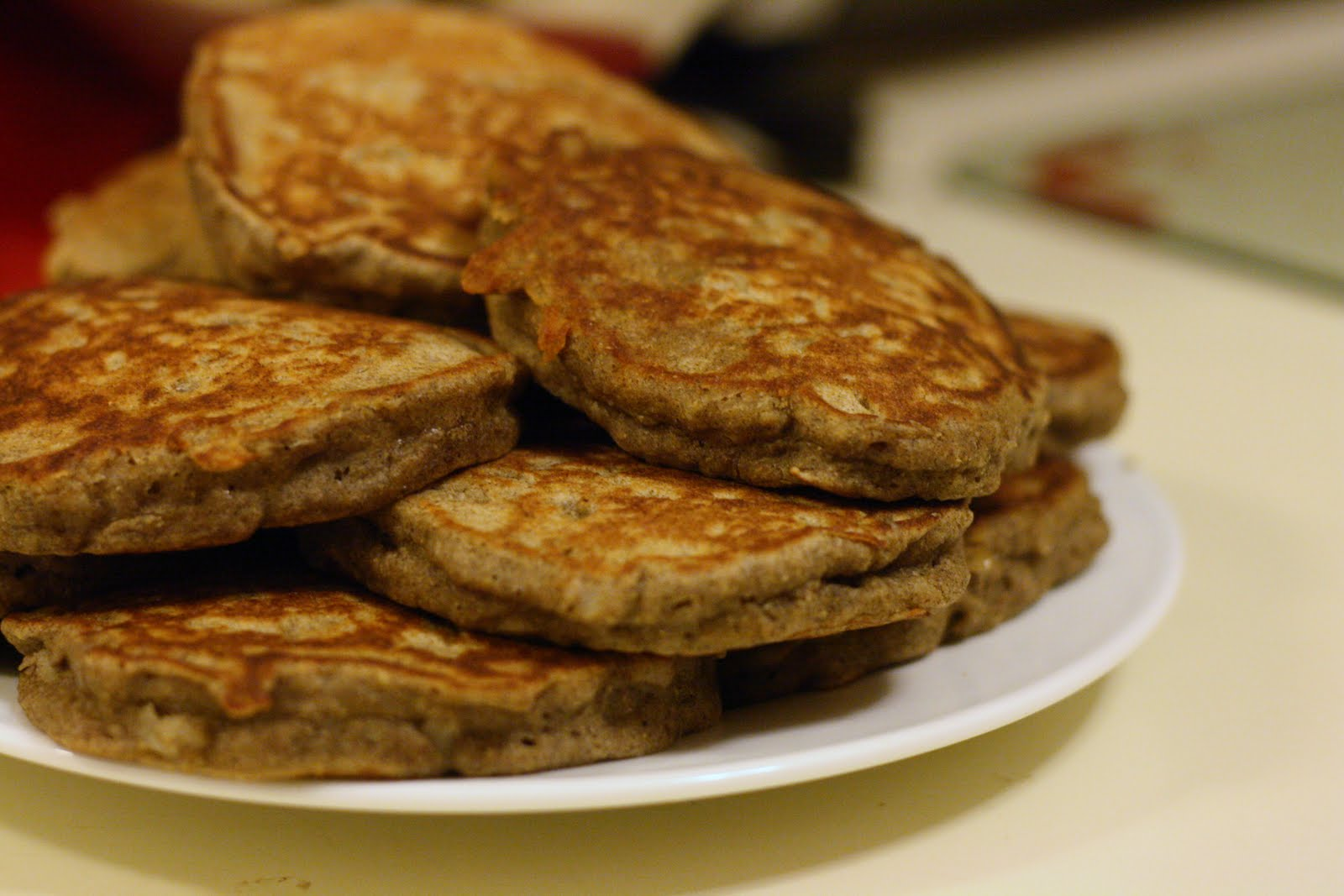 Laine's Recipe Box: Pear and Buckwheat Pancakes