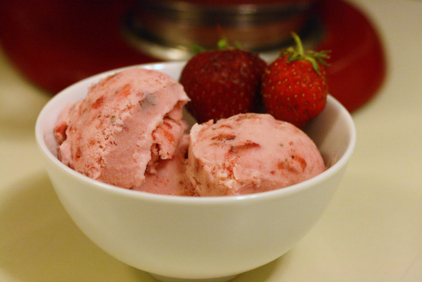 Laine's Recipe Box: Strawberry Ice Cream