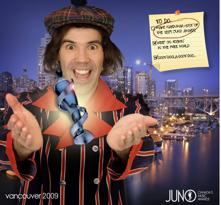 Nardwuar for the Junos!