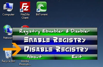 How To Enable And Disable Windows Vista And XP Registry Access
