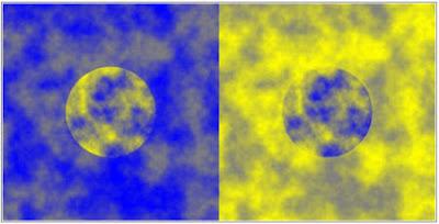 El misterio de los círculos azul y amarillo que parecen distintos pero son iguales